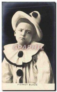 Old Postcard Perrot blaze Pierrots