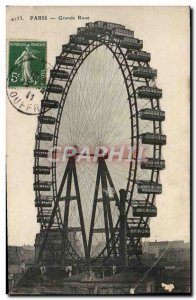 Old Postcard Paris Grand Wheel