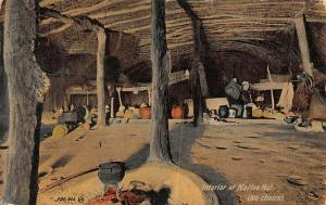 South Africa Interior of Native Hut No Chairs Postcard