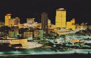 Colorful night scene of Edmonton's City Centre,  Edmonton,  Alberta,  Canada,...