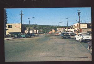 WAWA ONTARIO CANADA DOWNTOWN STREET SCENE 1950's CARS VINTAGE POSTCARD