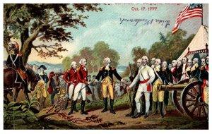 New York Saratoga , Surrender of Bourgogne to Gates