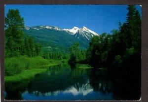 BC Mt Willet Lardeau Valley, British Columbia Canada Postcard Carte Postale