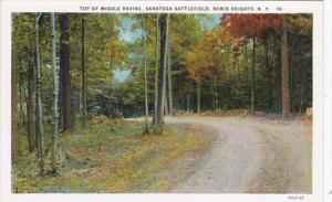 New York Top Of Middle Ravine Saratoga Battlefield Bemis Heights Curteich