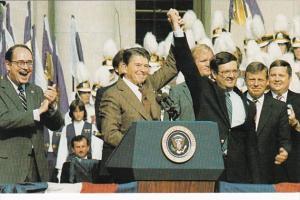 Presidetnt Ronald Reagan & Curt Weldon Running For Congress