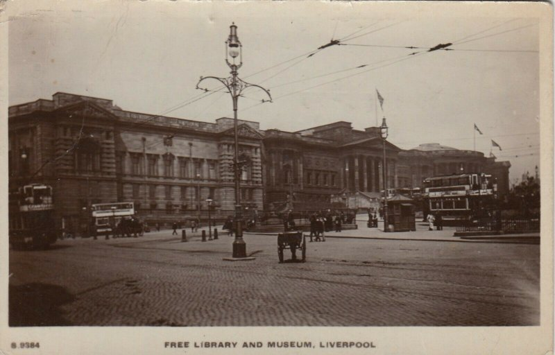 RP: LIVERPOOL , UK , 1919 , Free Library & Museum