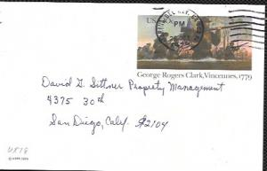 US Used Pre-stamped Postcard UX78 George Rogers Clark, Vincennes