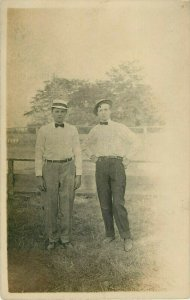 Postcard RPPC Father And Son