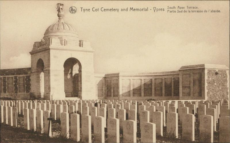 Ypres Tyne Cot Cemetery Memorial War South Apse Terrace abside