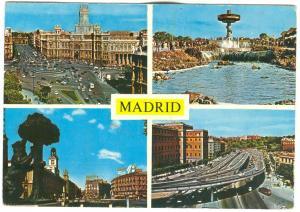 Spain, Madrid, 1972 used Postcard