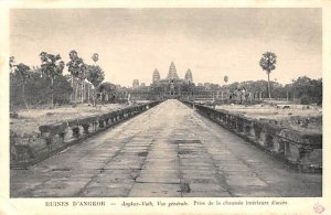 Prise de la Chaussee interieure d'access Ruines D'Angkor Cambodia, Cambodge W...