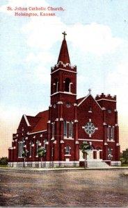 Kansas Holsington St Johns Catholic Church Curteich