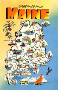 Maps Maine USA Writing on back