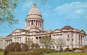 Little Rock Arkansas~The Arkansas State Capitol~1960 Postcard