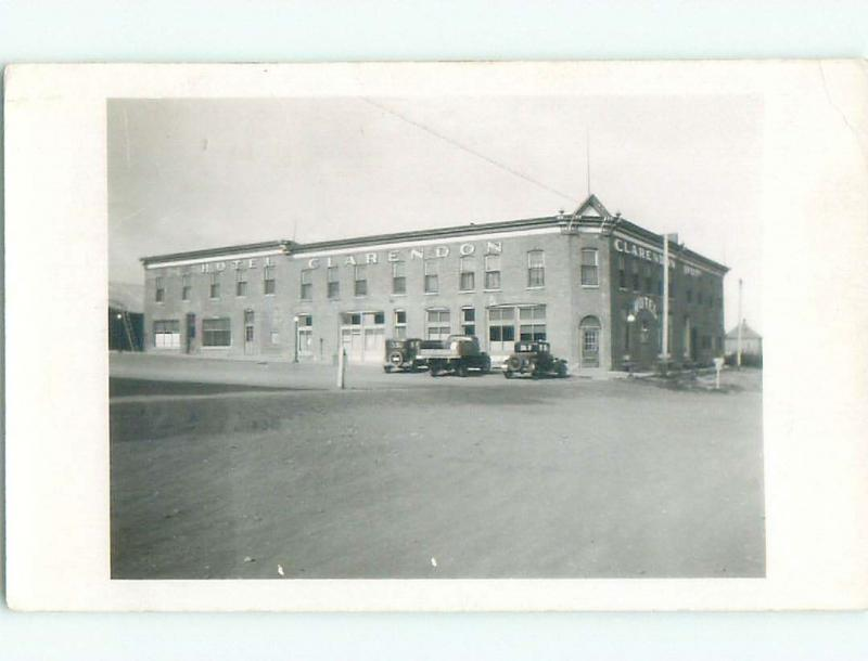 1950's rppc CLARENDON HOTEL Gull Lake - Near Swift Current Saskatchewan SK W0935