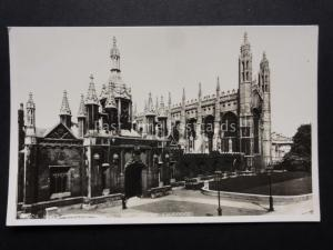 Cambridge: KIngs College Chapel & Gateway - Old RP Postcard by F.Frith