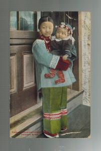 1910 San Francisco USA Chinatown RPPC Postcard cover Slave Nurse Girl with Baby