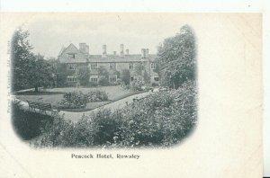 Derbyshire Postcard - Peacock Hotel - Rowsley - Ref 16005A