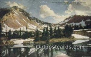 Taylors Peak, Gallatin Range Of The Rockies, USA Trains, Railroads 1916 light...