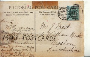 Genealogy Postcard - Best - 4 Witham Bank - Boston - Lincolnshire - Ref 9020A
