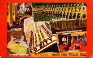 New York City Rockefeller Center Radio City Music Hall Interior Views 1952
