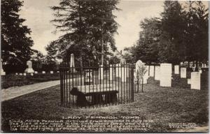 Lady Fenwick Tomb Cypress Cemetery Saybrook CT c1912 Vintage Postcard H13