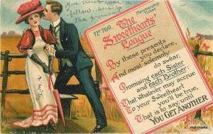 Artist impression C-1910 Romantic Sweethearts Membership postcard 7202
