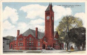 Alabama Al Postcard SELMA c1910 FIRST PRESBYTERIAN CHURCH Building