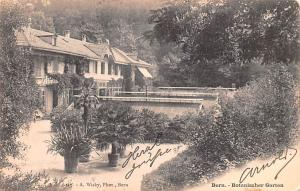 Switzerland Old Vintage Antique Post Card Bern Botanischer Garten 1903
