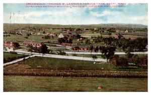 Massachusetts Egypt , Aerial View Dreamland Farm ,  Carter White  Lead Paint Co,