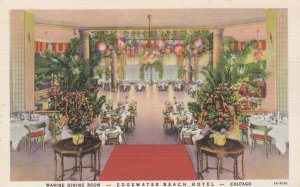 Edgewater Beach Hotel , CHICAGO , illinois , 30-40s ; Main Dining Room
