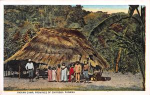 Indian Camp, Province of Chiriqui, Panama, Early Postcard, Unused