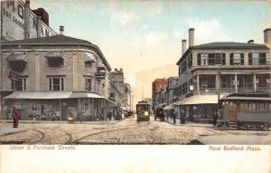 Massachusetts  New Bedford   Union and  Purchase Streets  , Trolleys