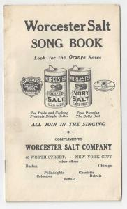 Worcester Salt Advertising Song Book All Join In The Singing