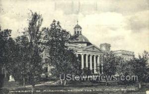 University of Missouri Columbia MO 1911