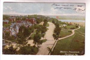Western Promenade, Portland, Maine, Used 1906