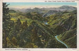 Colorado Denver Mountain Parks Clear Creek Canon From Colorow Point 1948