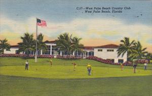 Florida West Palm Beach Country Club Putting Green 1959 Curteich