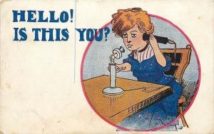Red-Headed Lady on Candlestick Telephone~Hello! Is This You? Tullmer~Napatee IL