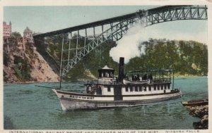 NIAGARA FALLS, New York, PU-1913; International Railway Bridge & Steamer Boat(2)