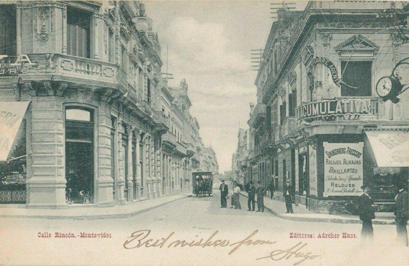 MONTEVIDEO , Uruguay , 1907 ; Calle Rincon