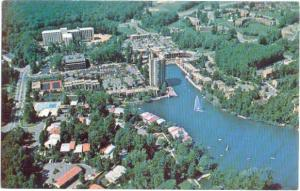 Air view of Lake Anne Village Center, Reston, Virginia, VA, Chrome