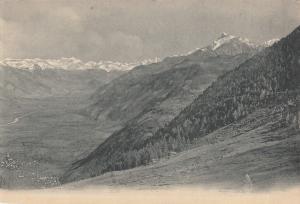Switzerland alpine landscape early card