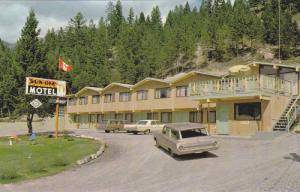 Exterior View of Sun-Dek Motel, Radium Hot Springs, British Columbia, Canada,...