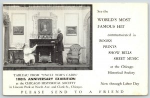 Chicago~Historical Society Centennial~Uncle Tom's Cabin Tableau~1952 Show Invite