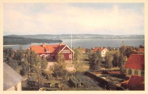 Sweden Old Vintage Antique Post Card Utsikt fran Vikarbyn Unused