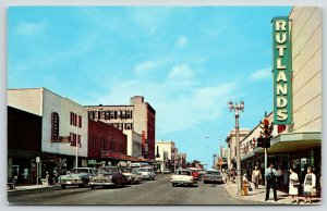 Clearwater FL~Downtown~Korones Jewelers~Old-Fashioned Street Lamps~Rutland~1960s