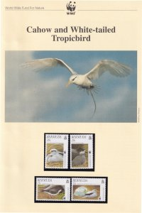 Cahow White Tailed Tropicbird WWF Stamps and Set Of 4 First Day Cover Bundle