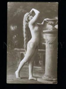 135543 NUDE Woman BELLE Long Hair Vintage PHOTO JA #79 PC