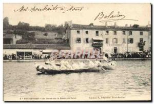 Old Postcard Rive de Gier The jousts on the basin